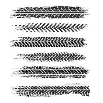 Tracce di pneumatici impostate