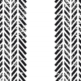 Tracce di pneumatici su sfondo bianco illustrazione vettoriale Vettore Premium