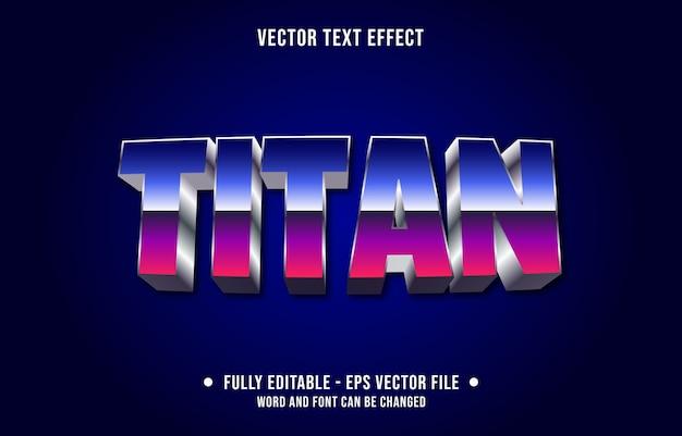 Titan modello di effetto di testo modificabile in stile retrò sfumato