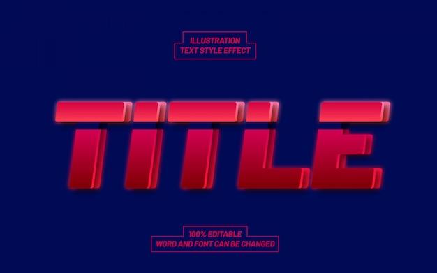 Titolo stile effetto testo rosso e blu