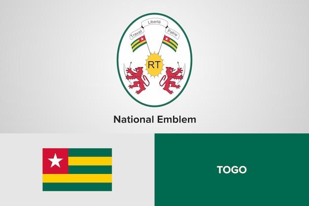 Modello di bandiera nazionale emblema del togo