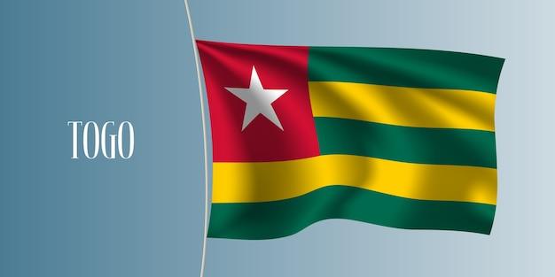 Togo sventola bandiera illustrazione