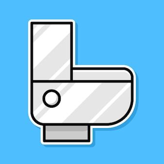 Disegno del fumetto della toilette