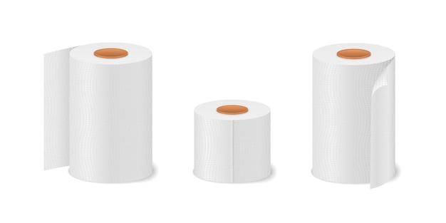 Rotolo di carta igienica per bagno e toilette Vettore Premium