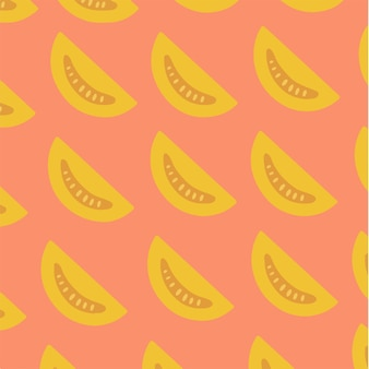 Fetta di pomodoro pattern background social media post vector illustration