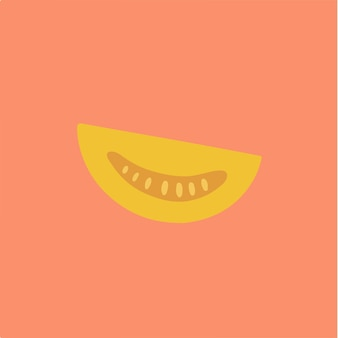 Simbolo della fetta di pomodoro social media post vector illustration