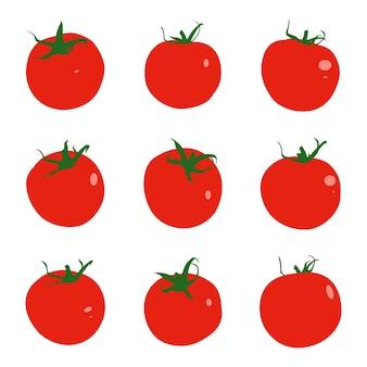 Insieme del fumetto di pomodori