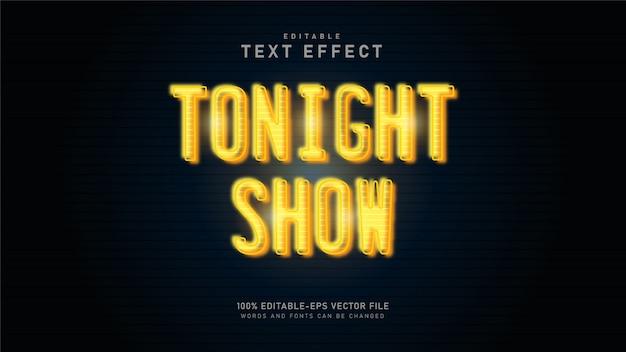 Stasera mostra l'effetto di testo