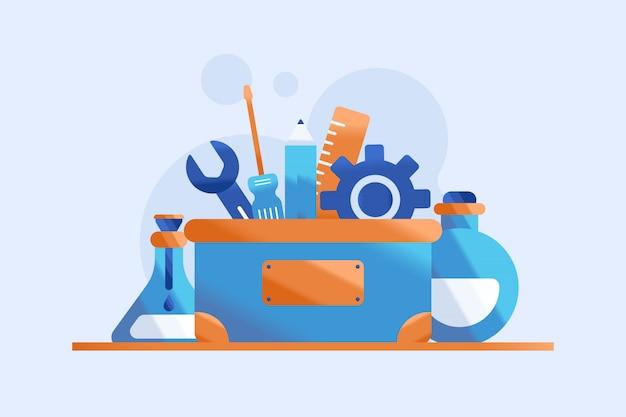 Illustrazione della cassetta degli attrezzi