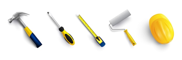 Set di strumenti illustrazione vettoriale isolato