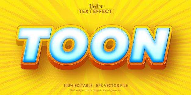 Testo toon, effetto testo modificabile in stile cartone animato