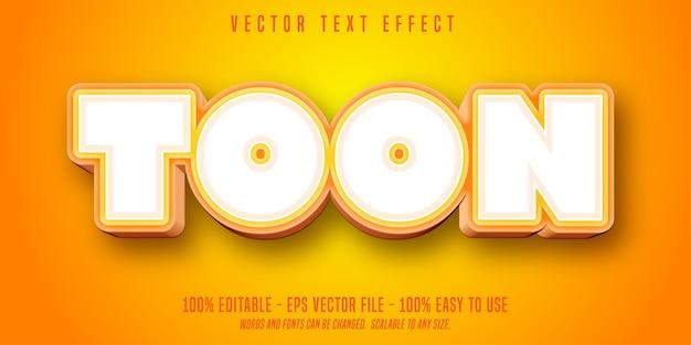 Testo toon, effetto di testo modificabile in stile cartone animato