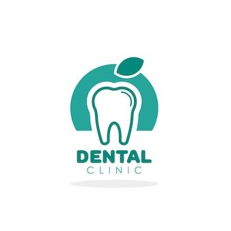 Logo vettoriale del dente per modello di clinica odontoiatrica