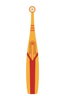 Simbolo dentale dello spazzolino da denti. strumento per la pulizia della bocca. icone isolate dentali dello spazzolino da denti per il web. igiene e igiene orale, concetto di assistenza sanitaria. illustrazione vettoriale colorata disegnata a mano