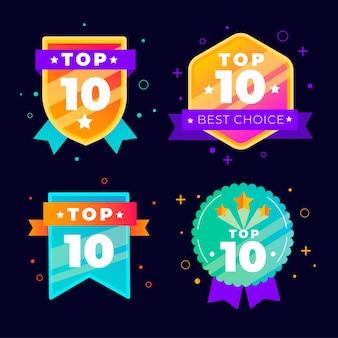 Raccolta dei 10 migliori badge