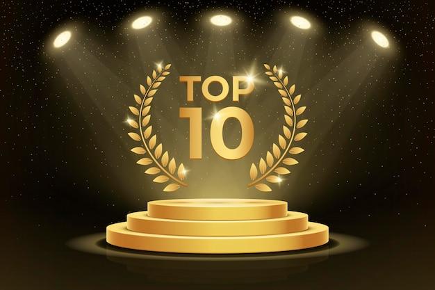 Top 10 miglior premio sul podio