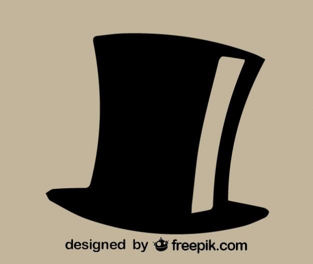 Vettore icona cappello a cilindro