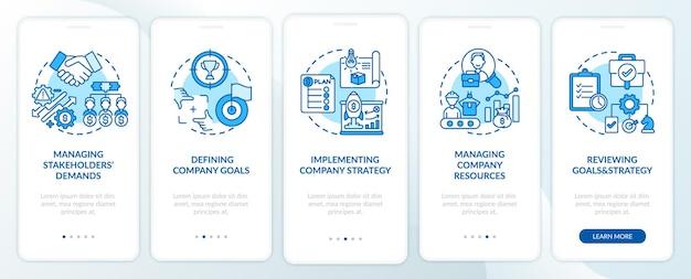 Attività di gestione principali che integrano la schermata della pagina dell'app mobile con i concetti