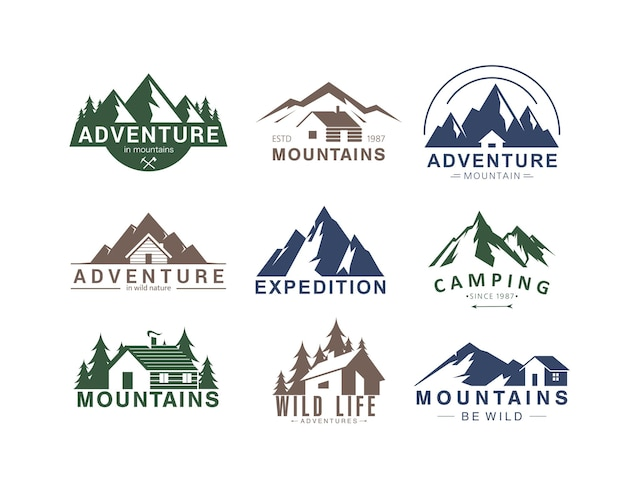 Le vette più alte, la spedizione di avventura all'aria aperta in campeggio in un paesaggio montuoso, la vita del campo in natura