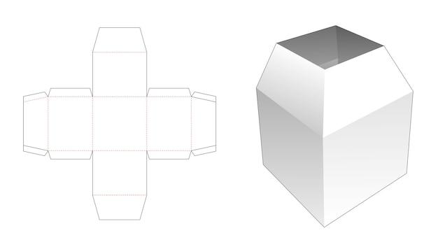 Modello fustellato di scatola di cancelleria trapezoidale superiore