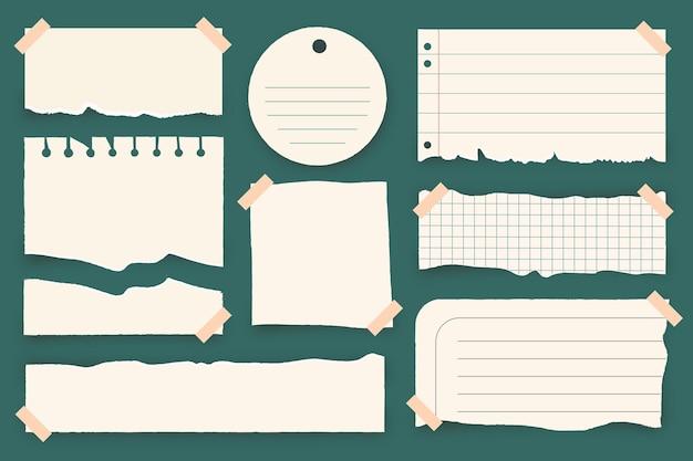 Raccolta di carta strappata con nastro adesivo