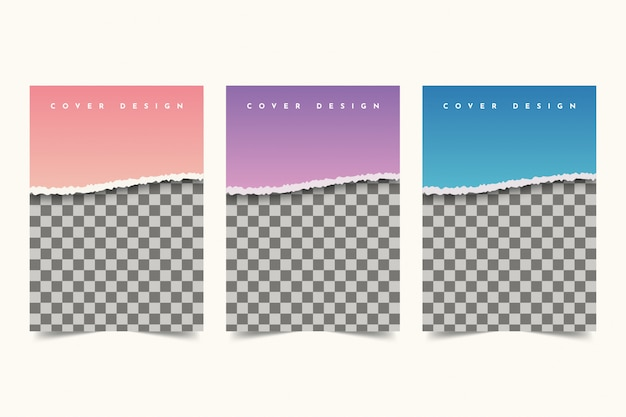 Disegno di copertina di carta strappata
