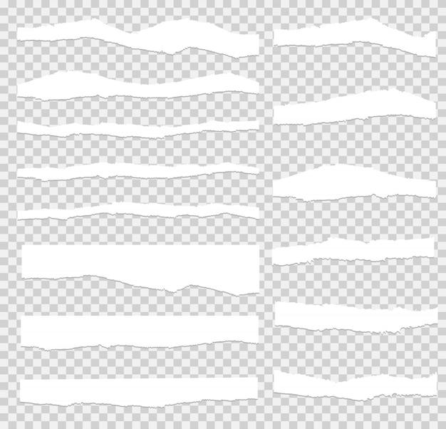 Carta strappata set vettoriale, a strati.