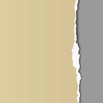 Carta strappata con bordo strappato. volantino, poster, modello di carta con spazio per il testo. elemento di design grafico per la decorazione di album di ritagli, pagina pubblicitaria, carta da parati. pezzo di carta tagliato grunge. illustrazione vettoriale