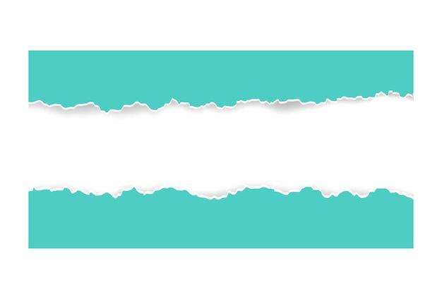 Pezzo strappato strappato di sfondo di carta orizzontale per il testo