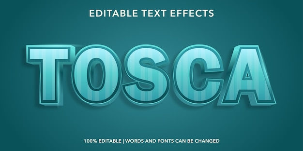 Effetto testo modificabile stile tosca 3d