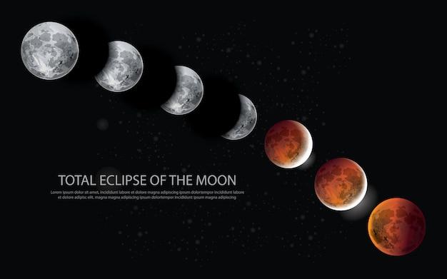 Total eclipse of the moon illustrazione vettoriale