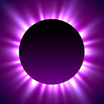 Eclissi totale di sole. sfondo magico di eclissi.