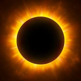 Eclissi totale di sole. eclissi solare.