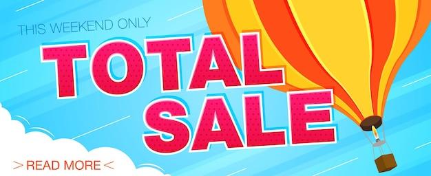 Banner di vendita totale