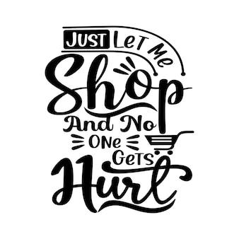 Borsa tote quotes design lettering vector