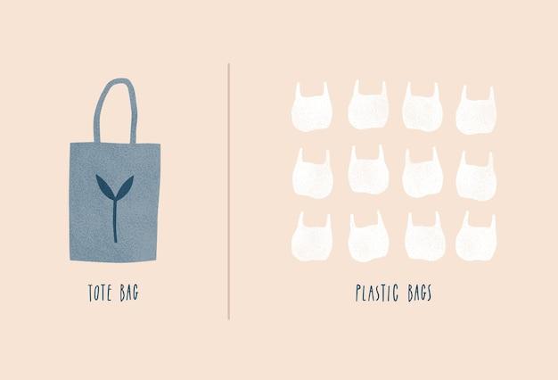 Tote bag vs sacchetto di plastica
