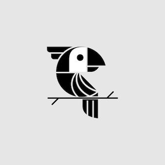 Tucano uccello con vettore di cartoni animati