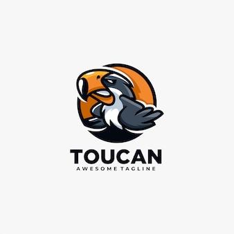 Toucan logo design cartoon animal