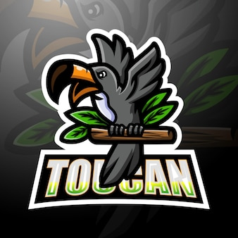 Tucano mascotte esport logo design
