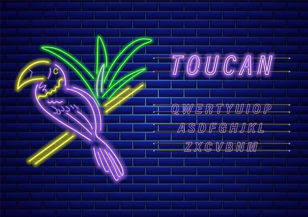 Modello di neon tucano