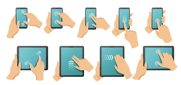 Set di gesti touchscreen