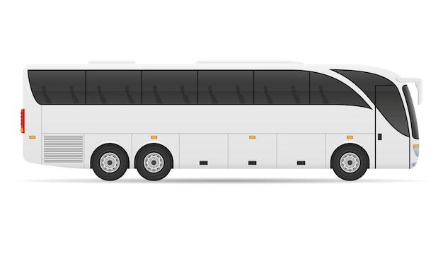 Tour in autobus della città su bianco