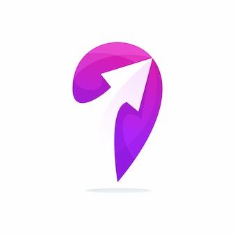 Logo della posizione di tour e viaggi