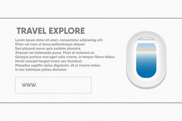Banner modello di turismo