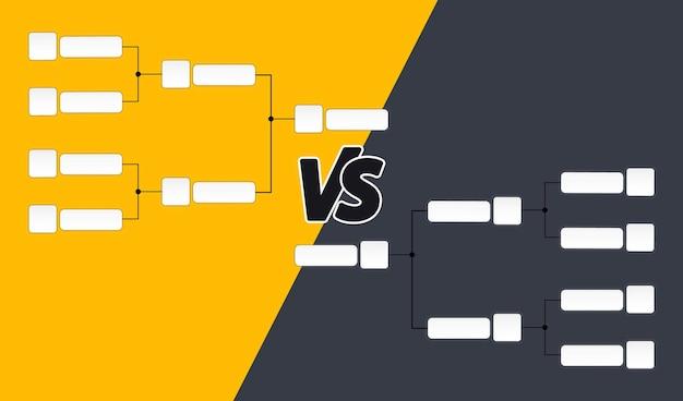 Modelli di gironi del torneo. modello di calendario dei playoff. staffa da torneo di design creativo. illustrazione di bracket.vector torneo vuoto.