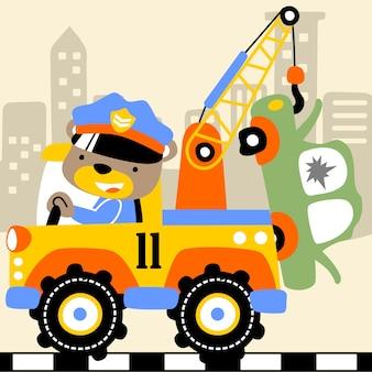 Cartoon vettore camion da rimorchio