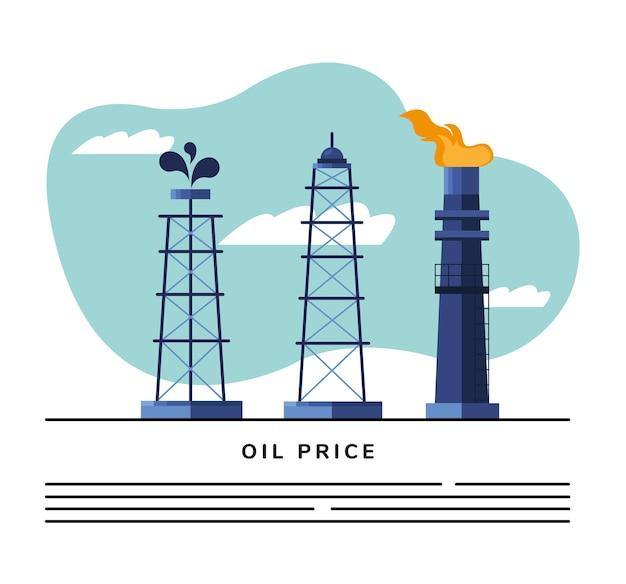 Torri e ciminiere di petrolio