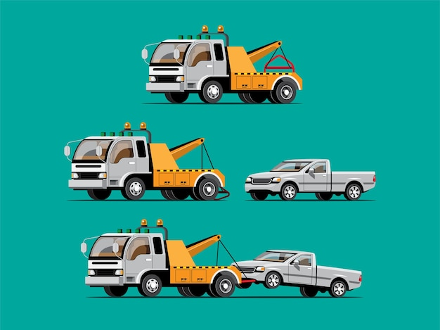 Auto da traino con set di automobili