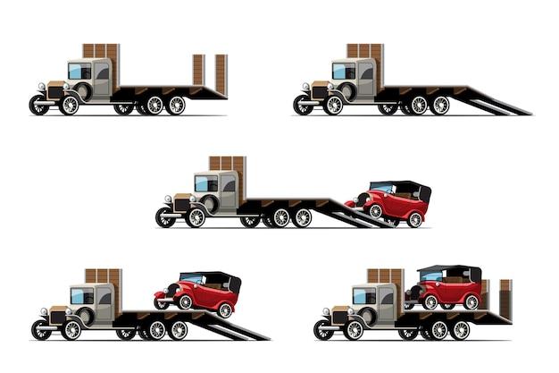 Set di auto da traino