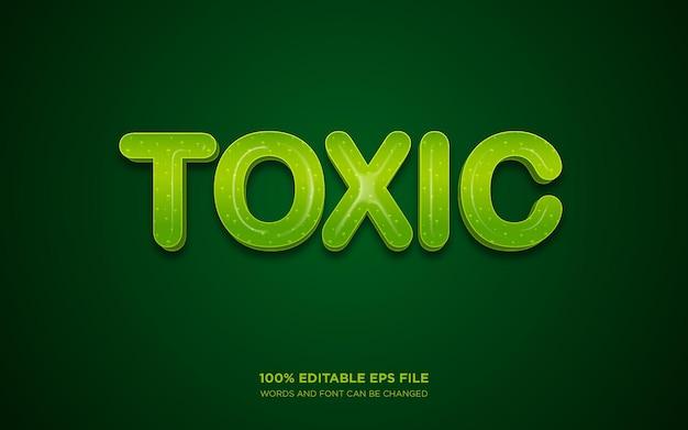 Effetto stile di testo modificabile 3d tossico